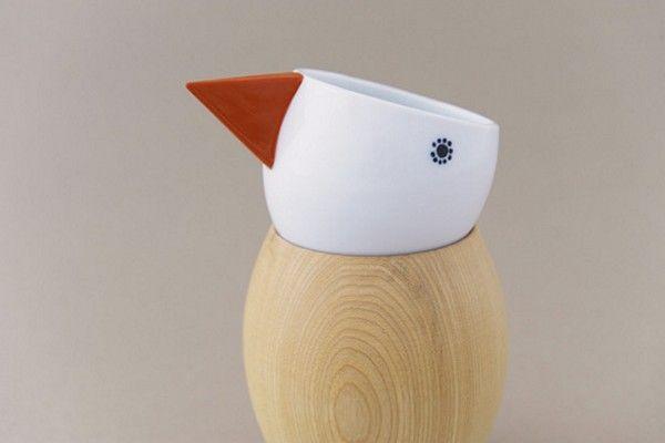 Cute bird cup by Mina Perhonen