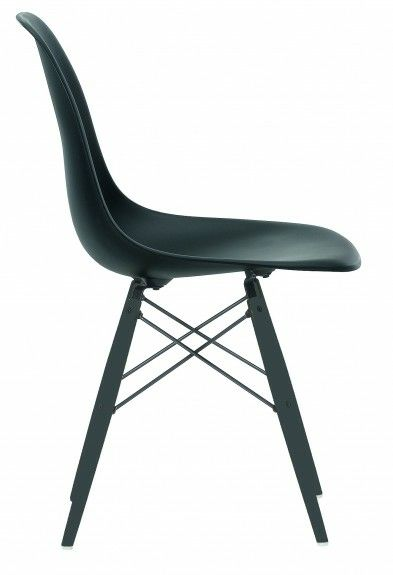 Limited edition black on black Eames DSW side chairs.