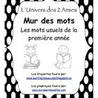 This is a set of 220 high-frequency words for use as a word wall in grade one French Immersion.  It would coordinate with our free alphabet word wa...