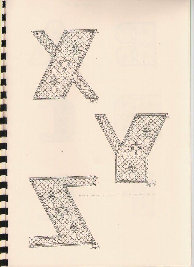 Alphabet X à Z Torchon