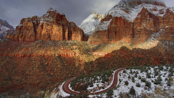 Winter in Zion NP.