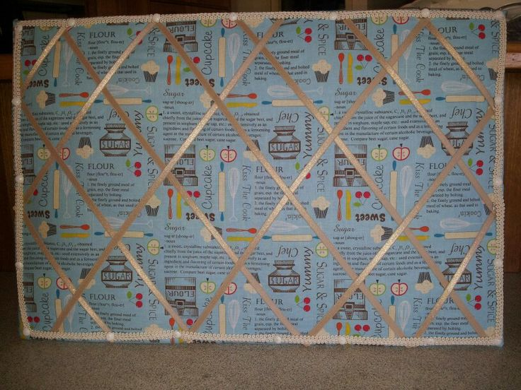 Note board for kitchen (pin board)