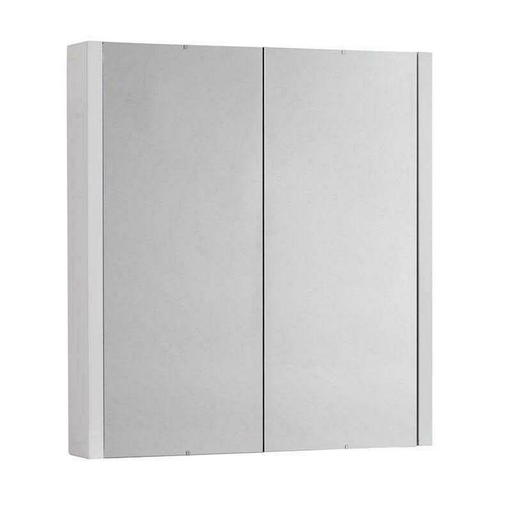 Odessa White 2 Door Mirror Cabinet