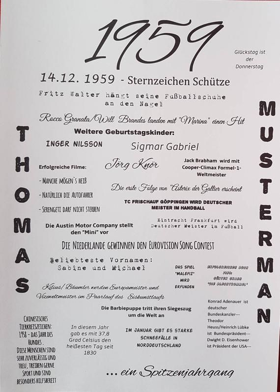 Druck Jahrgang 1959 Zitate Zum 50 Geburtstag Lustige
