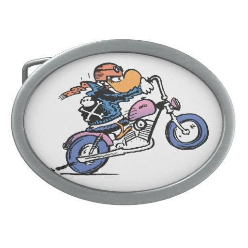 If you want to make a statement that you ride bikes, then this funny belt buckle will do it. The Wild Duck character from Swamp cartoons is a popular character among bikers. $51.95 from Swamp Cartoons Zazzle Store. #biker # buckle #wild #ducks #swamp # cartoons http://www.zazzle.com.au/a_bikers_life_wild_ducks_oval_belt_buckle-256202493355127172?rf=238100710189761270