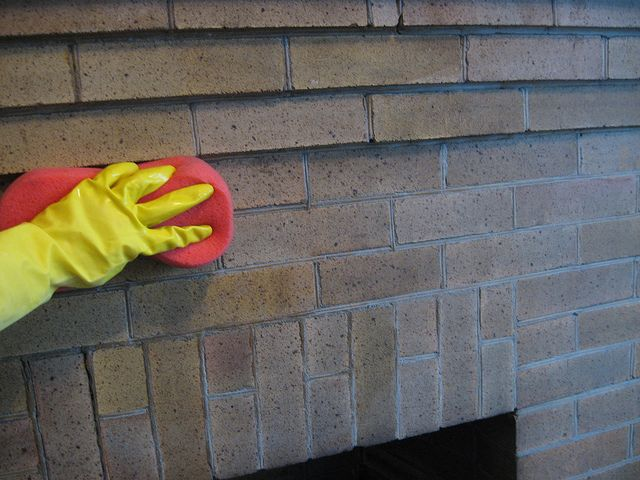 How to Clean a Brick Fireplace...