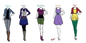 Teen Titans Outfits - I'd wear them!