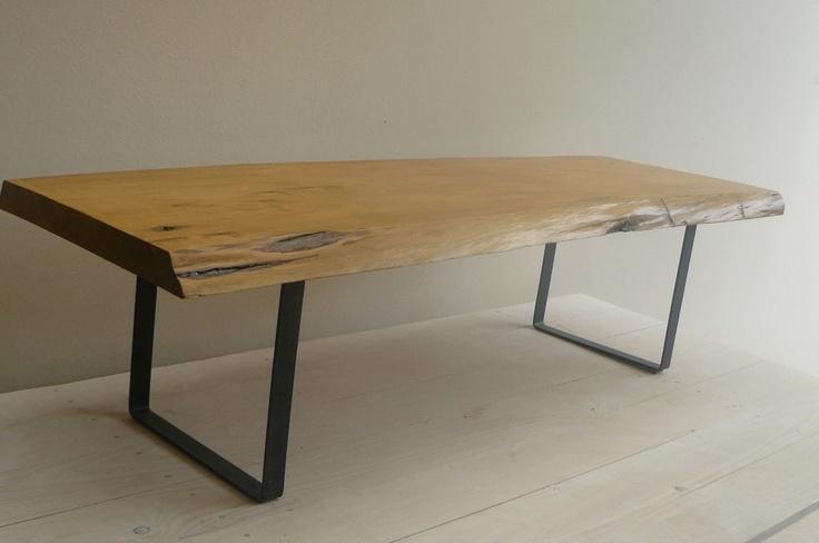 Mesa baja de madera maciza rustica mesa ratona mercado for Mesa madera maciza rustica