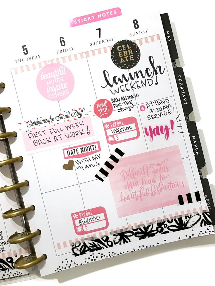 using a mini pocket page inside the CLASSIC 'This is Your Year' Happy Planner® by mambi Design Team member Erica Canant | me & my BIG ideas