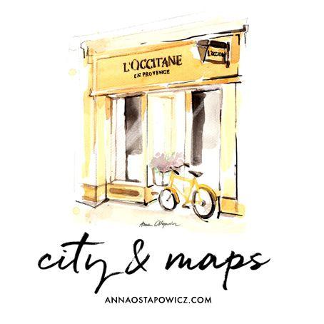 City & Maps Illustration, Anna Ostapowicz, www.annaostapowicz.com
