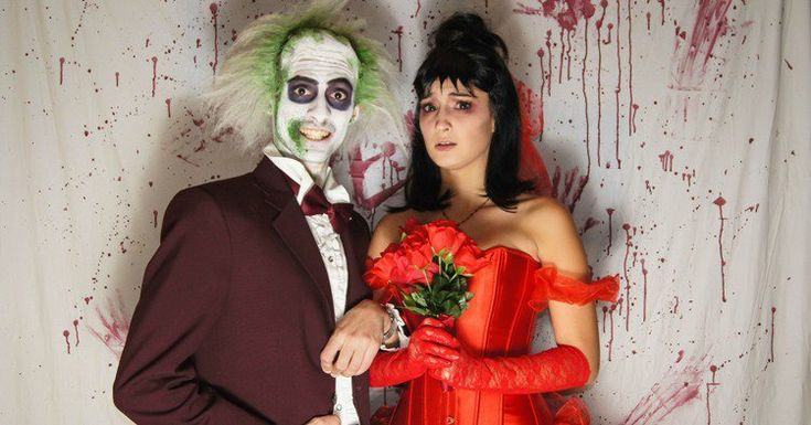 costumes-halloween-idées-maquillage-robe-rouge-costume