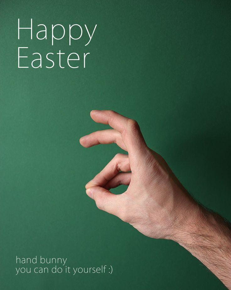 happy easter minimalism poster green bunny