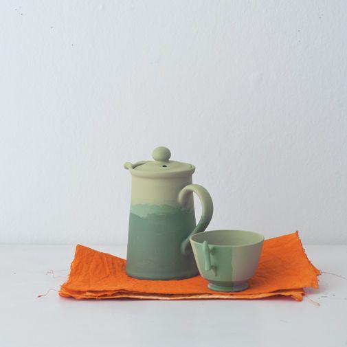 Charlotte's Locks No.268 / jug + cups - calke green / ball green / breakfast room green