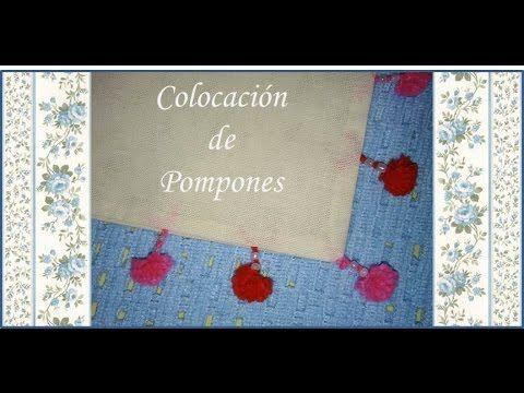 ♥ Como colocar los pompones en un almohadón ♥