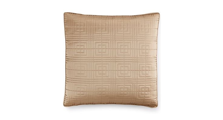 Hotel Collection Savoy Espresso Quilted European Sham