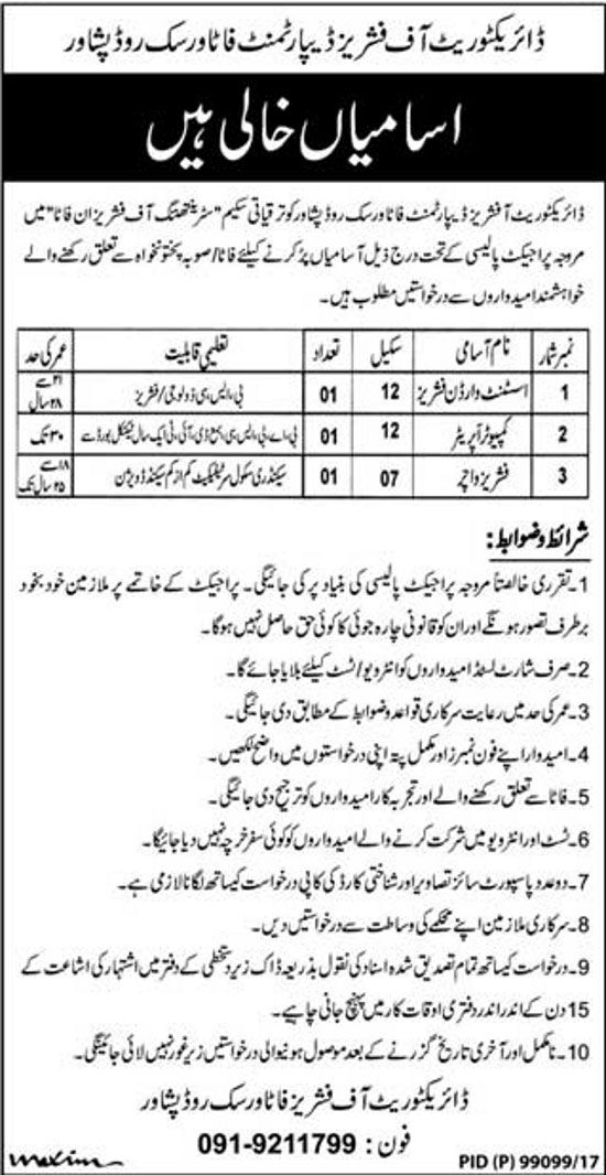 Latest Jobs in Fisheries Department Peshawar