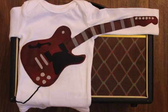 Maroon Electric Guitar Bodysuit with Amp by EviesGift on Etsy