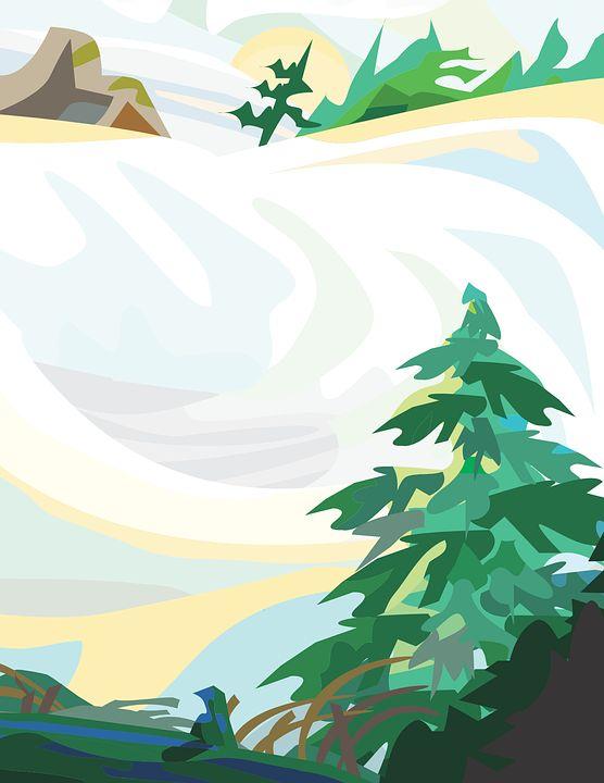 Krajobraz, Zima, Śnieg, Drzewo, Dziennik, Wydmy Śnieg