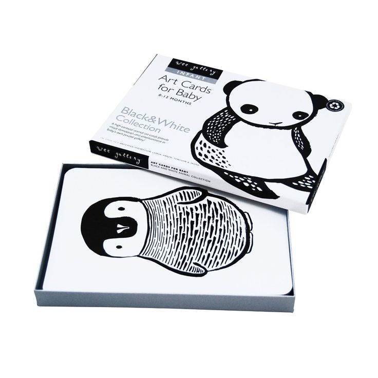 Wee Gallery Art Cards for Baby – Black and White Collection