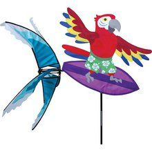 Party Animal Wind Spinner - Surfing Parrot. Available at OurPamperedHome.com
