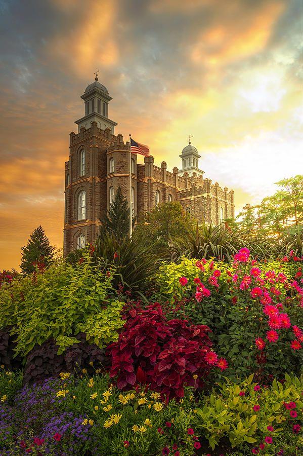 Logan Temple Garden Photograph by Dustin  LeFevre