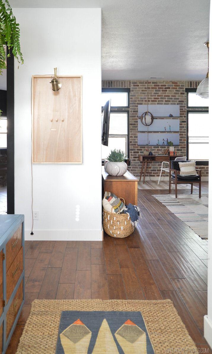 Open Foyer Loft : Loft living room entryway makeover reveal beautiful