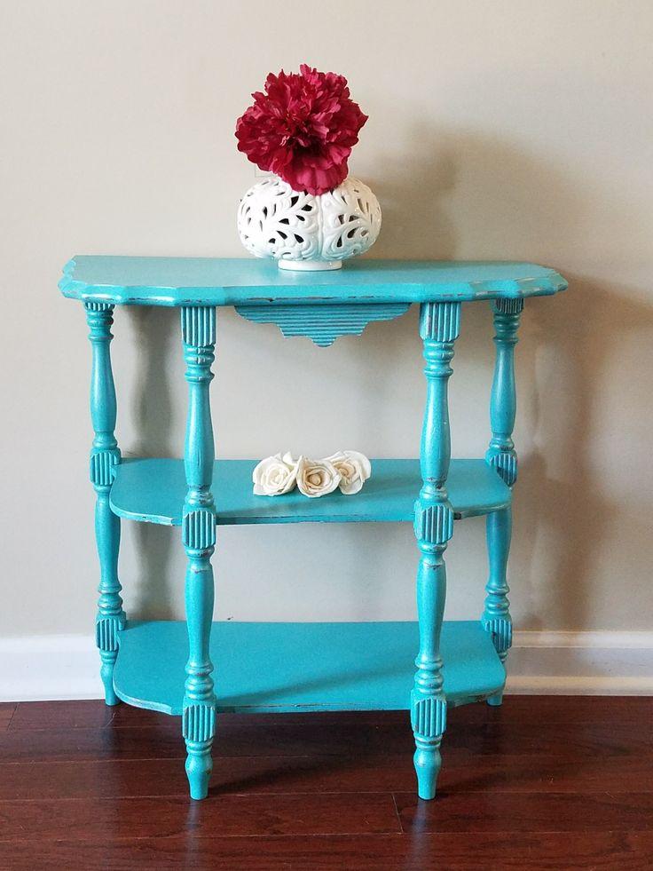 Terra Bella Acrylic-chalk paint Aquamarine with Pearl sealer.  A fun pop of color for any room!  #paintedfurniture #aquamarine #color #interiordesign  https://www.facebook.com/LantanaTiffinieLee/