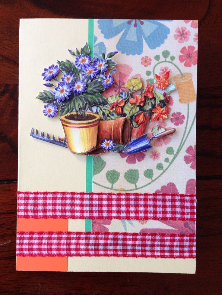 Verjaardagskaartje met tuinthema! Birthday card with garden theme! DIY
