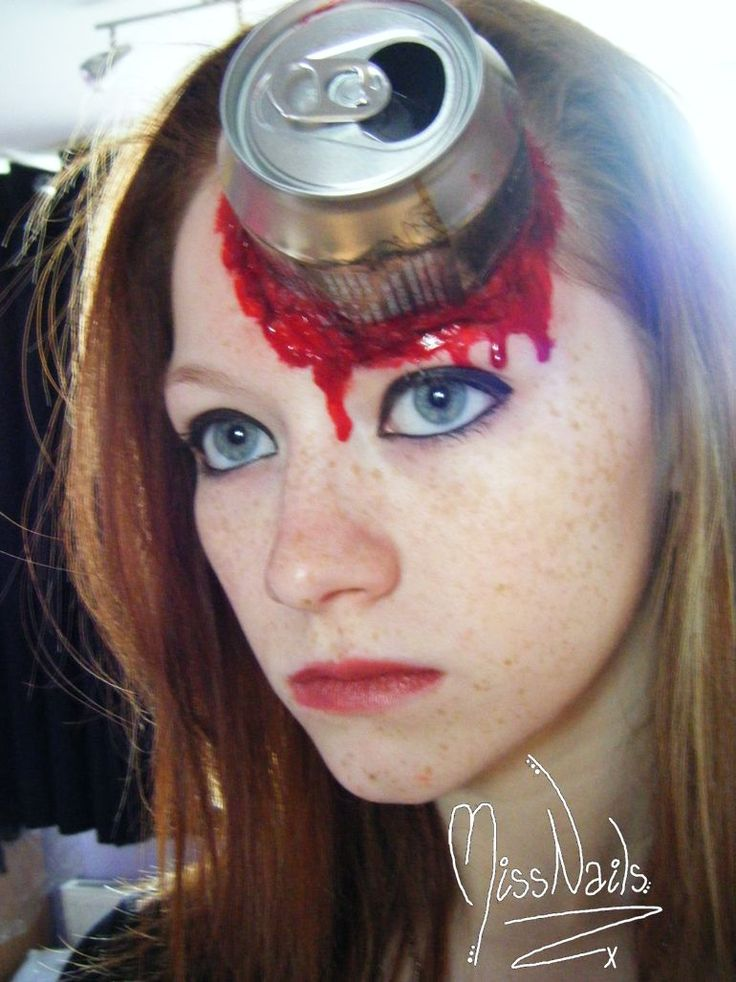 this would be so cool to do with like a glass beer bottle instead of the aluminium can especially if you could see inside the bottle at the damage done - Where Can I Get Halloween Makeup Done