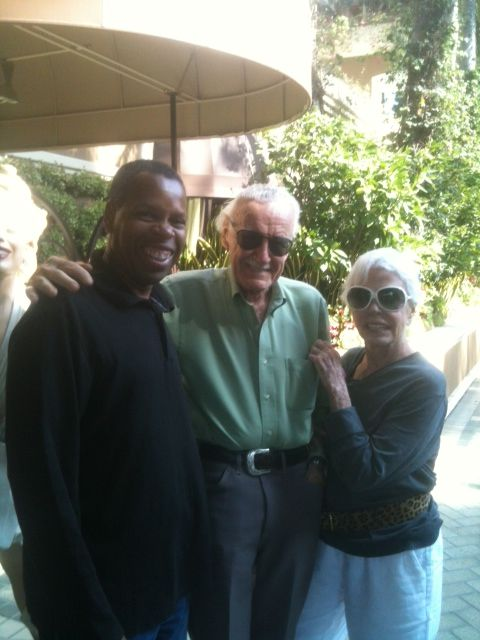 Loved seeing Stan Lee and his wife Joan..