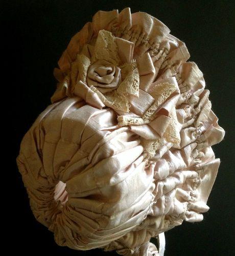 Antique Reproduction Doll Bonnet high brim