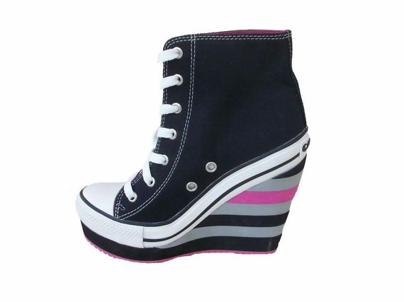 converse shoes high heels