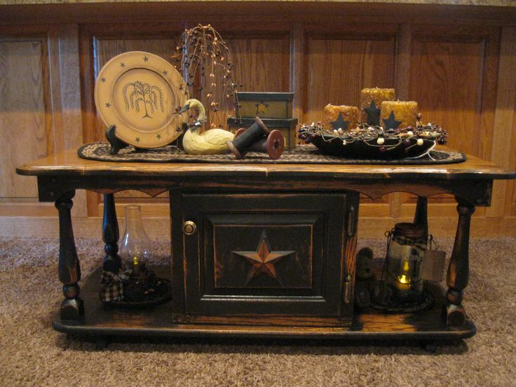 primitive coffee tables and end tables 1