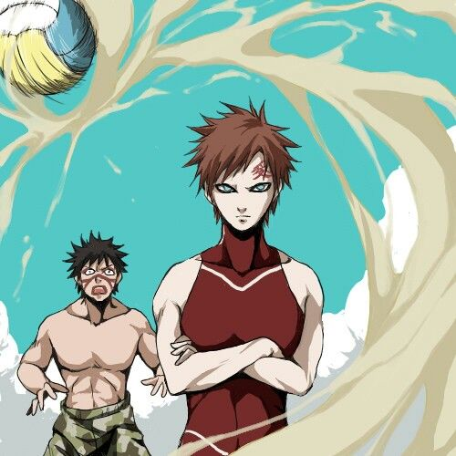 "Kankuro ""Ummmm....G-Gaara....I think... t-that's cheating..."" Gaara, ""Nonsense Kankuro, shut up!"""