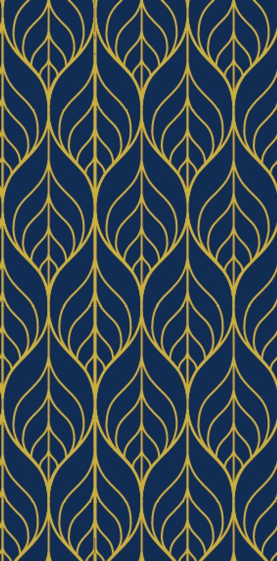 Removable Wallpaper Peel And Stick Wallpaper Leaf Wallpaper Navy Wallpaper Nursery Wallpaper Nursery Decor Self Adhesive Navy Wallpaper Leaf Wallpaper Gold Wallpaper Background