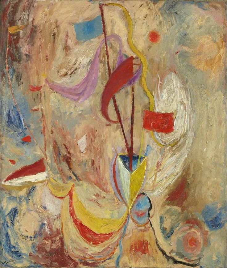 Flags and Bunting by Sir William Gillies (Scottish 1898–1973)