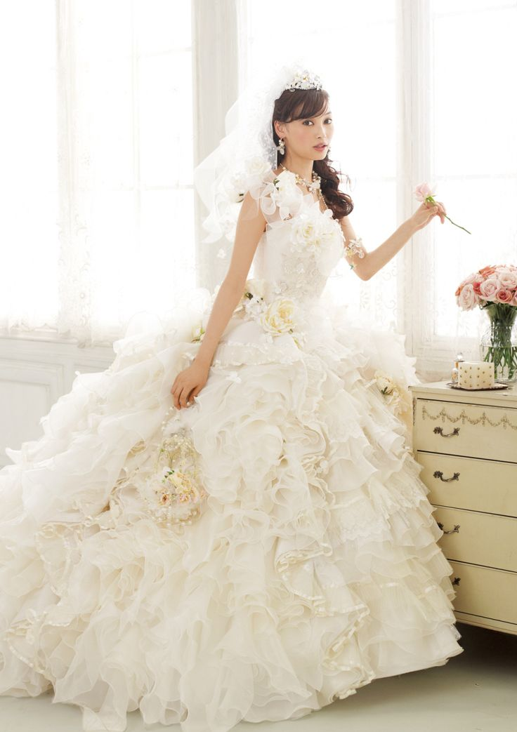 Aya Omasa / Model, Actress. Wedding dress