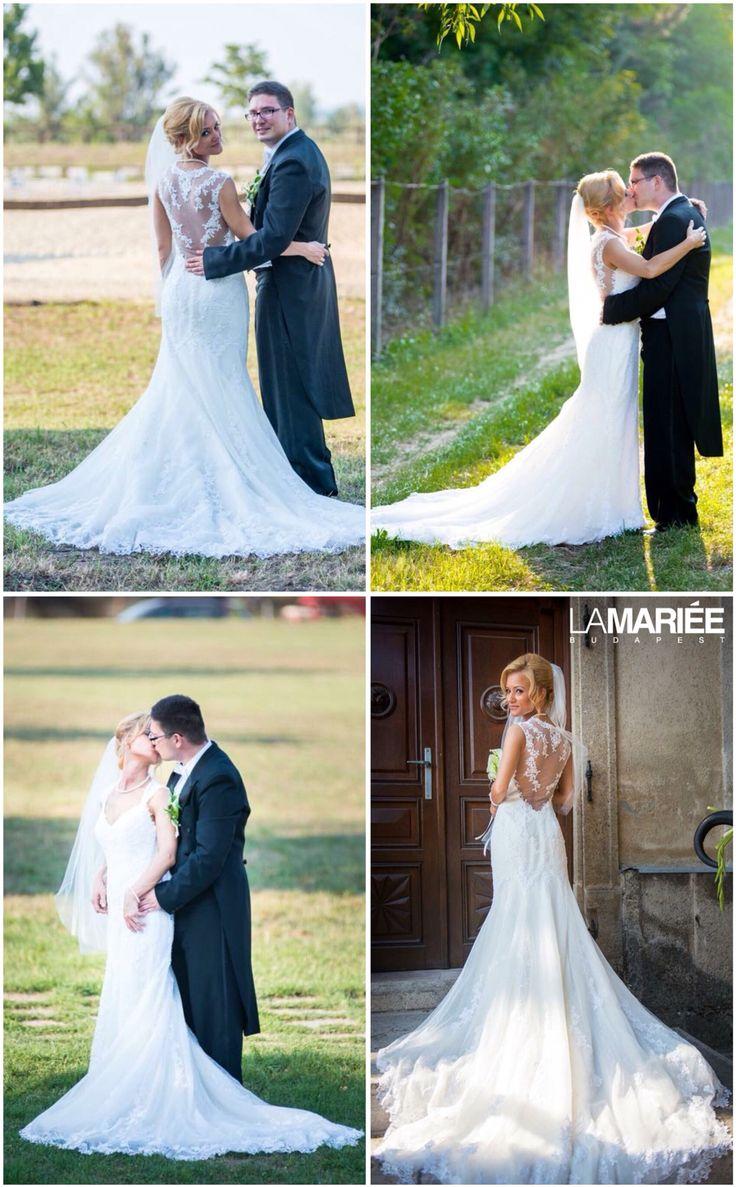 Laren esküvői ruha - 2015 Pronovias kollekció - Kinga menyasszony - La Mariee Budapest szalon http://lamariee.hu/eskuvoi-ruha/pronovias/laren_2