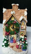 праздничный Рождественский музыкальный деревенский хор на аккумуляторе часы