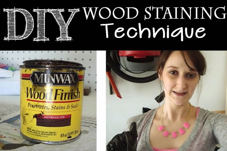 Learn how to easily stain wood for your wood working projects!  I also share my favorite wood staining products! The Daily DIYer: Wood Staining Technique & Products
