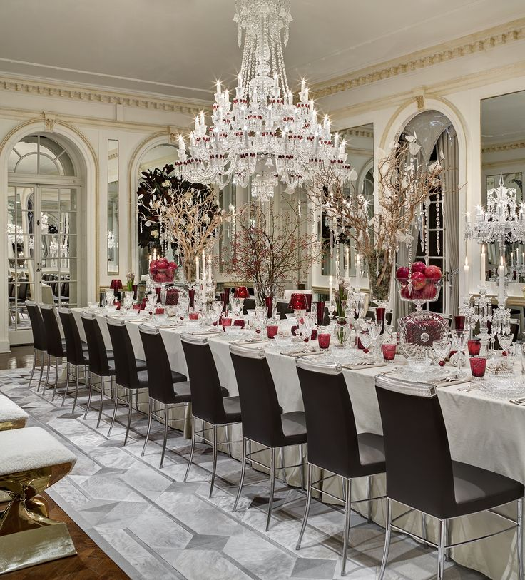 Beautiful Red And White Dining Room