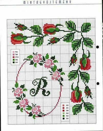 Monograma com flores