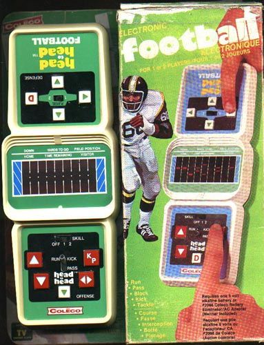 this '80s handheld game from Coleco was just a bunch of red lines and beeps and awesomeness.
