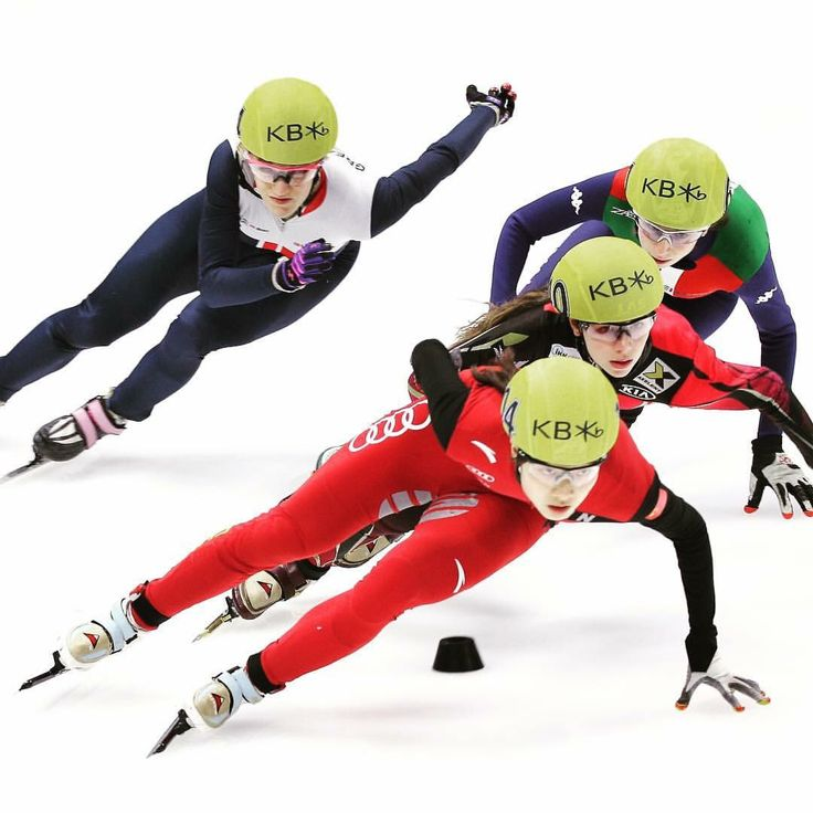 Qu Chunyu of China, Elise Christie of Great Britain, Anna Seidel of Germany and Lucia Peretti of Italy compete in the Ladies 1000m Quarterfinals during the ISU World Short Track Speed Skating Championships 2016 at Mokdong Icerink. •••  #SpeedSkating #ShortTrack #Allround #Olympic #Oval #IceRink #Skating #OlympicSkating #IceSkating #sport #skater #athlete #sports #lovesports #race #competition #champion #sports #sportphotography #potd #IceRacing