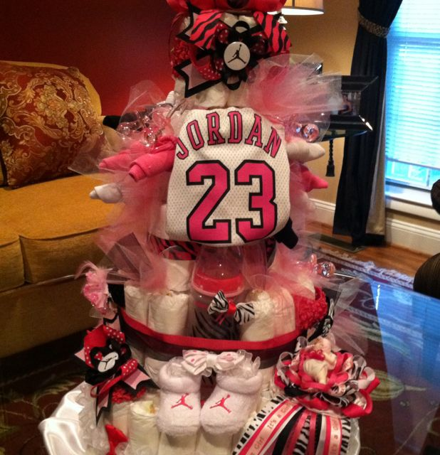 another jordan diaper cake jordan baby pinterest jordans purple