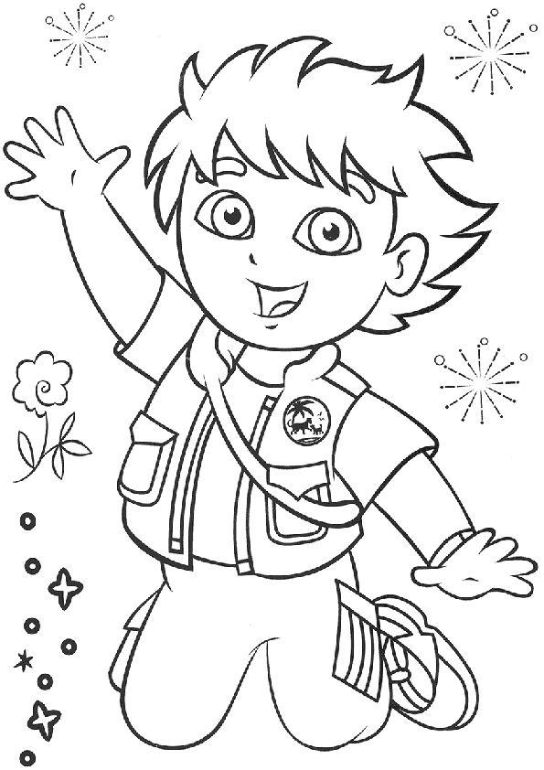 dora happy birthday coloring pages - photo#22