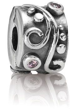 Pandora Rosa Zirkonia Silber-Clip 790380PCZ