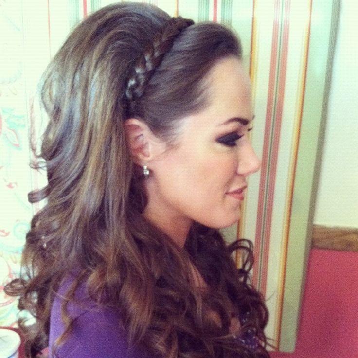 headband braid with curls - photo #15