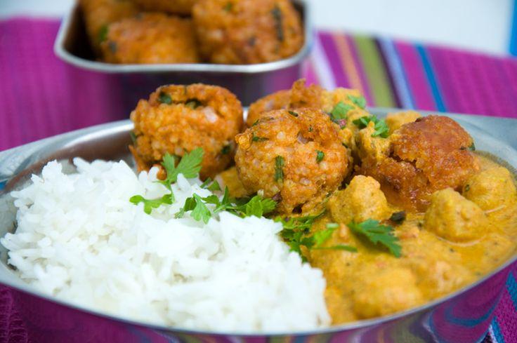 Kichererbsen-Curry mit Hirsebällchen - VivalasVegans
