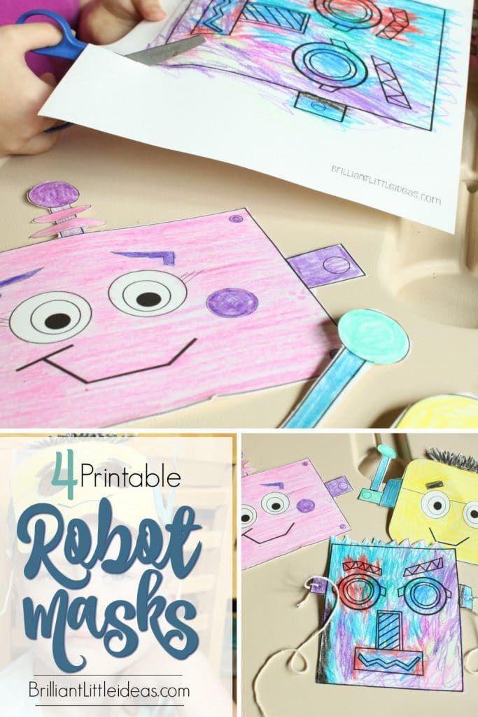 4 Fun Robot Masks for Kids PBS Craft Party Ideas Pinterest